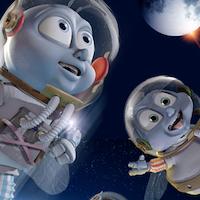 Flyv mig til månen - Dansk tale - 3D