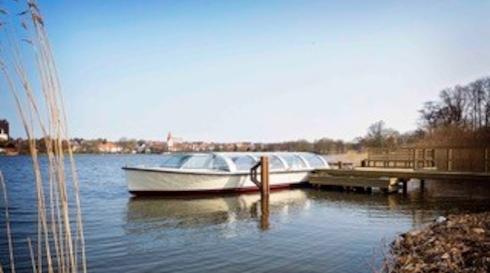 Boatsfahrt auf Haderslev Dam mit das Damboot Dorethea
