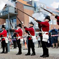 Faaborg Kanonerlaug indtager havnen i Ringkøbing