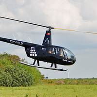 Helikopterflyvning i Skagen